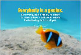 genius fish quote