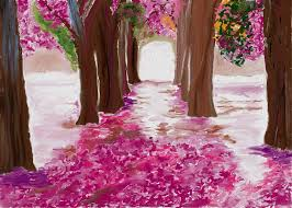 pink blossom river